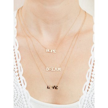 Love Letter DREAM Necklace