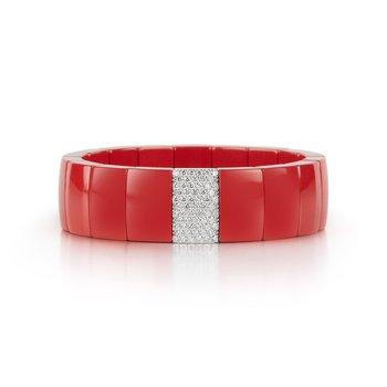 1.05 ctw Diamond & Ceramic Stretch Bracelet