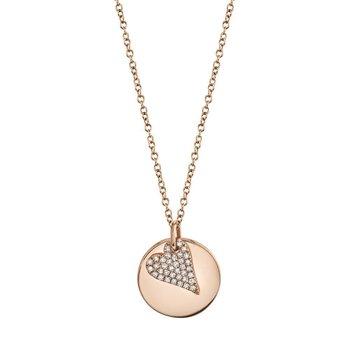 0.09 ctw Diamond Heart Pendant Necklace