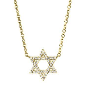 0.11 ctw Diamond Star of David Necklace
