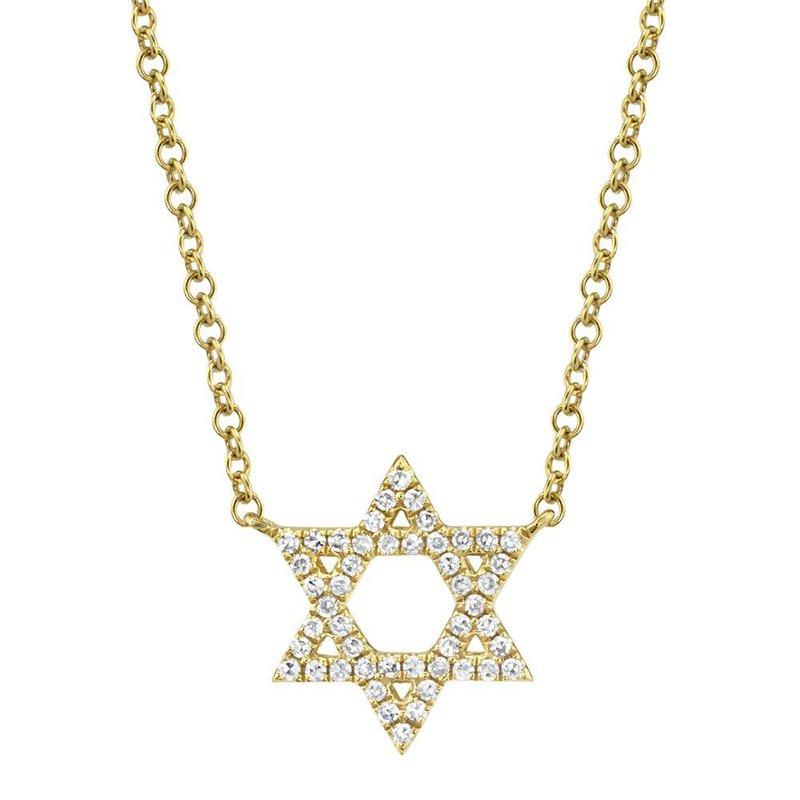 Shy Creation 0.11 ctw Diamond Star of David Necklace