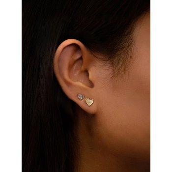 Multi-Color Heart Post Earrings