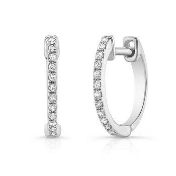 "0.07 ctw Diamond 1/2"" Huggie Earrings"