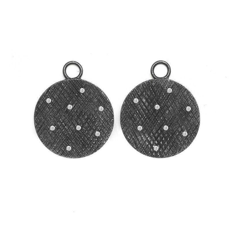 Nina Nguyen Designs FLORENTINE ROUND 20MM EARRING JACKETS