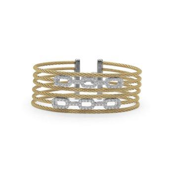 0.70 ctw Diamond Cable Bangle Bracelet