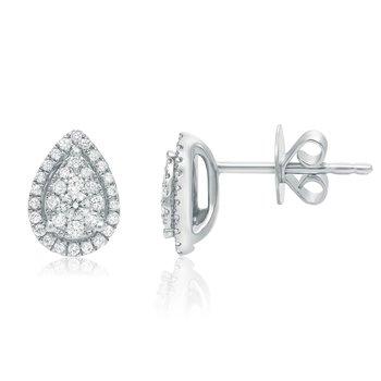 0.28 ctw Diamond Cluster Post Earrings