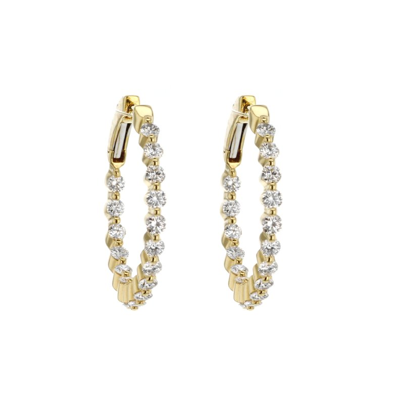 """Continental Collection 1.42 ctw 1"""" Round Hoops"""