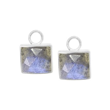 SQUARE LABRADORITE EARRING JACKETS