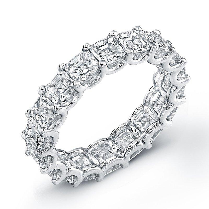 Uneek Fine Jewelry 4.52 ctw Eternity Asscher Diamond Band
