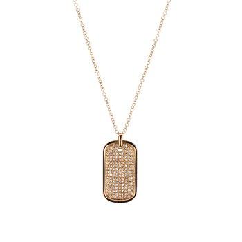 Diamond Dog Tag Necklace