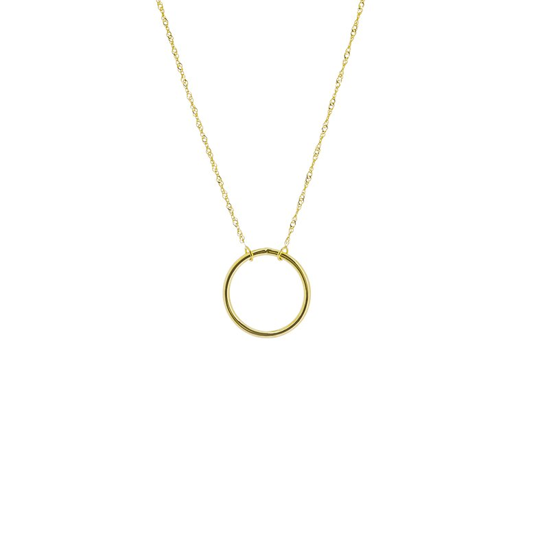 Continental Collection Open Circle Wire Necklace
