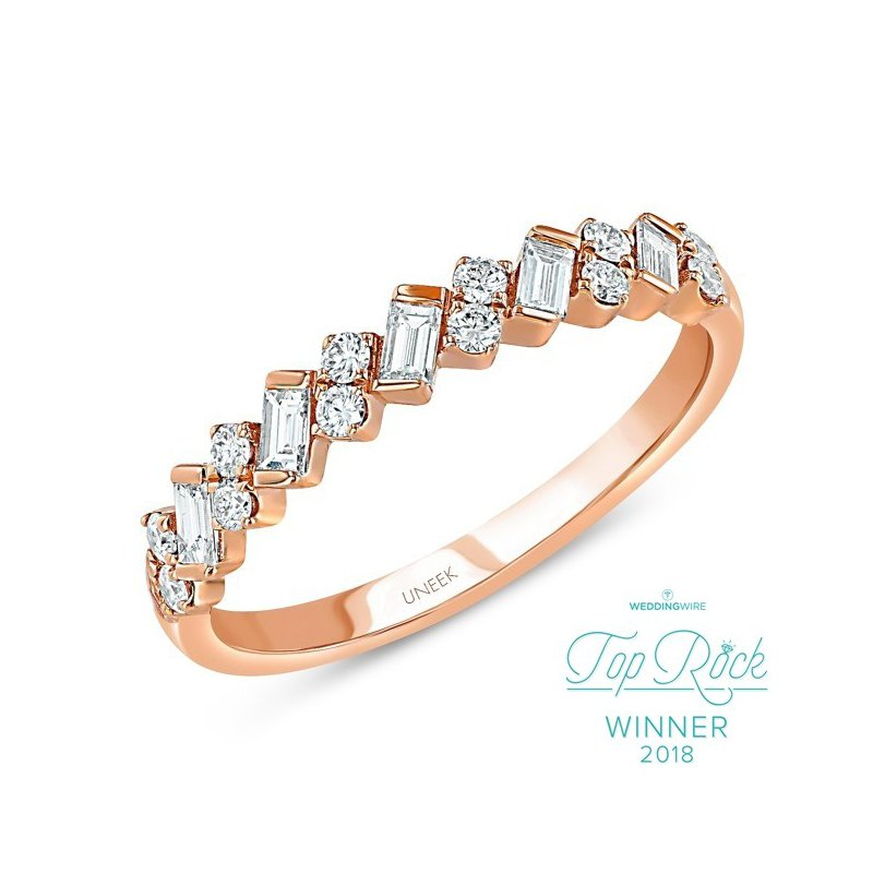 Uneek Fine Jewelry 0.40 ctw Baguette & Round Diamond Band