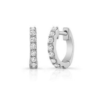 "0.30 ctw Diamond ""U"" Huggie Earrings"