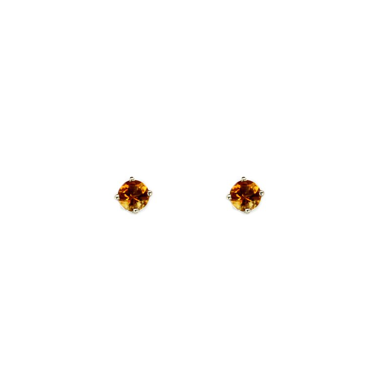 Continental Collection 0.79 ctw Citrine Post Earrings