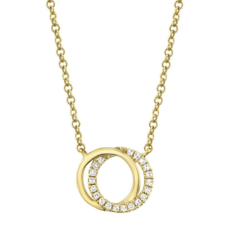 Shy Creation 0.07 ctw Diamond Love Knot Necklace