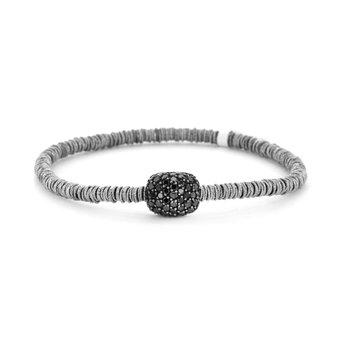 1.11 ctw Black Diamond Stretch Bracelet