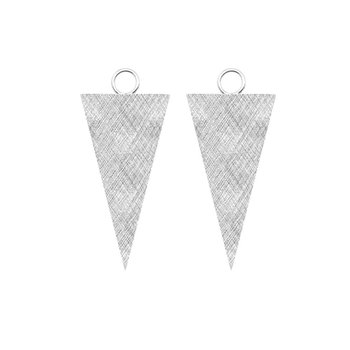 FLORENTINE 15X30MM TRIANGLE EARRING JACKETS