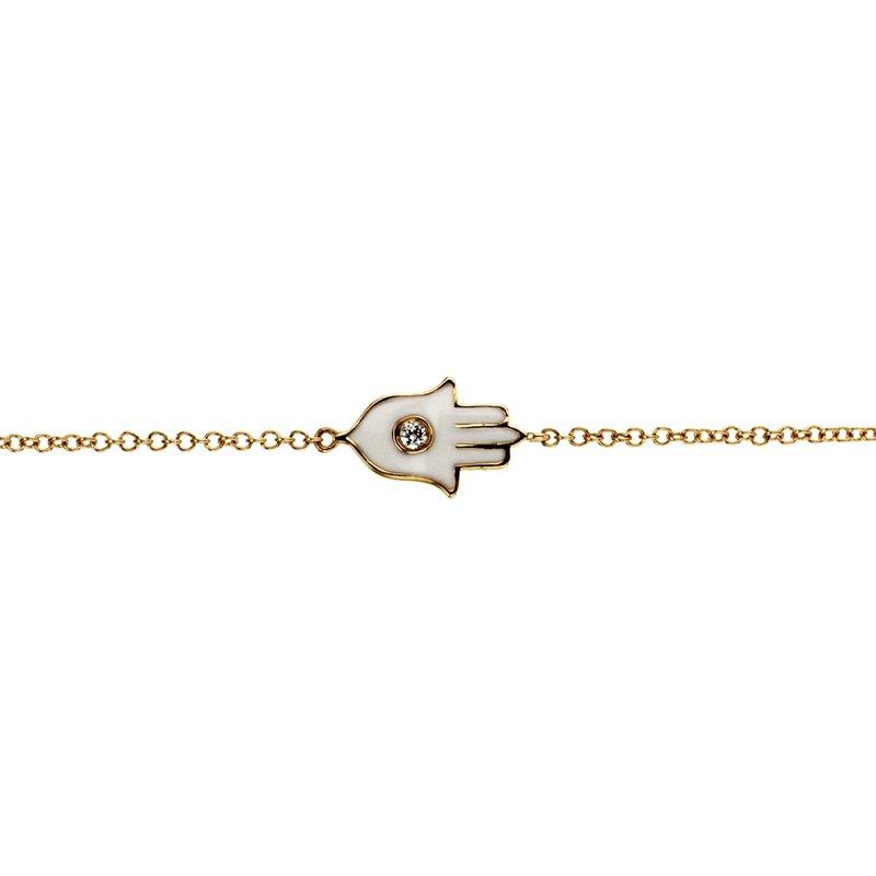 Continental Collection 0.02 ctw Diamond Hamsa Bracelet