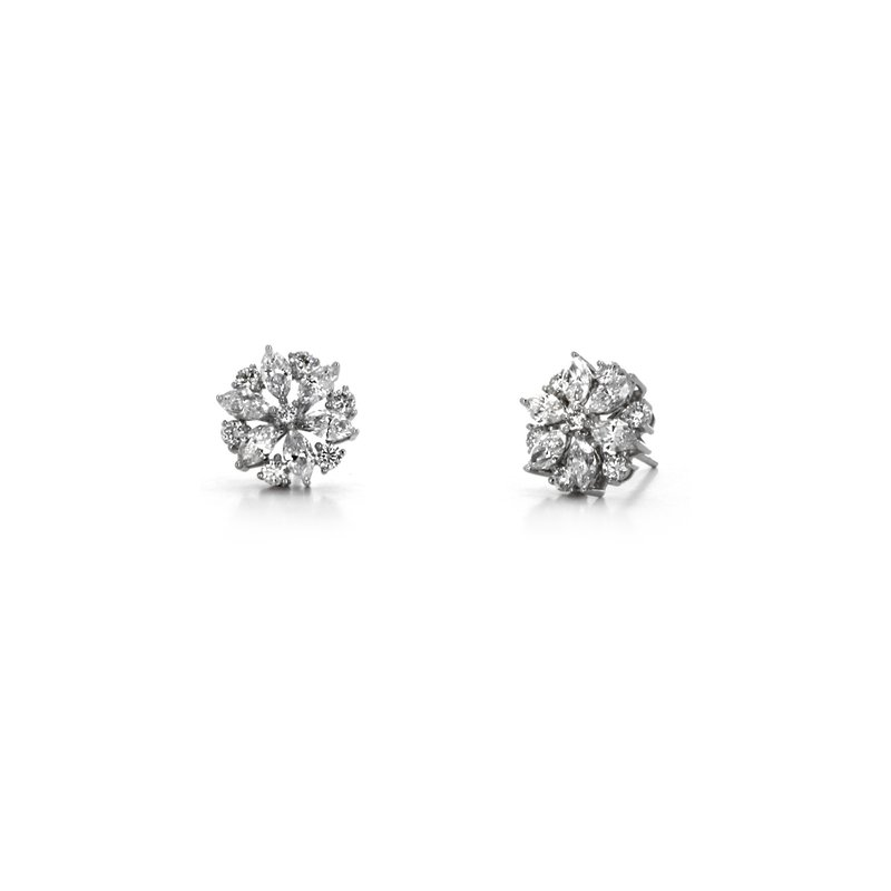 Continental Collection Diamond Snowflake Earrings