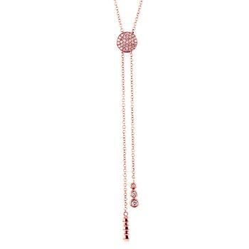 Diamond Pave Bolo Lariat Necklace