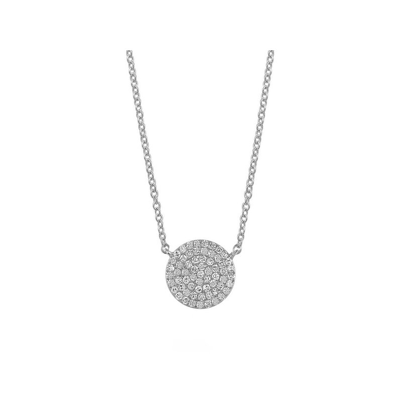 Continental Collection 0.19 ctw Diamond Disc Necklace