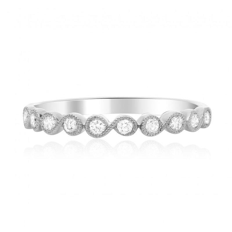 Continental Collection 0.22 ctw Bezel Diamond Band