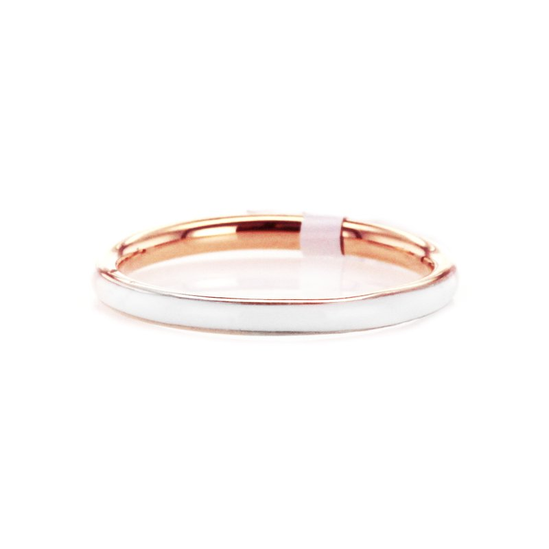 Signature Collection 2MM White Enamel Band
