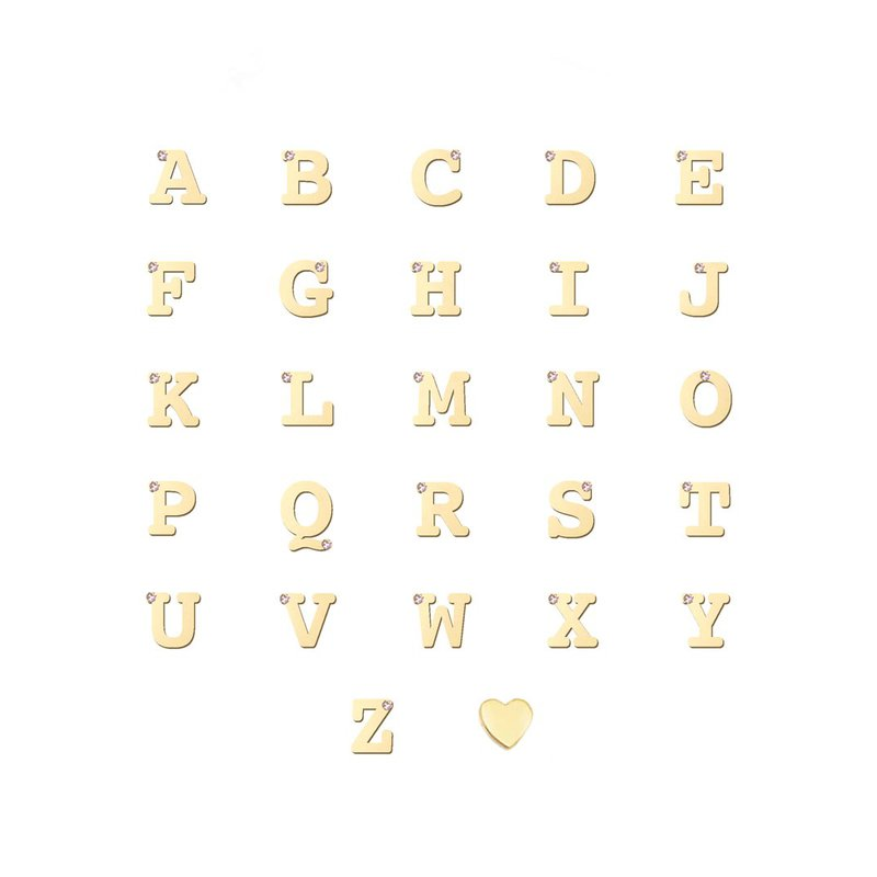 Anzie Love Letter Single Diamond Ring A to Z
