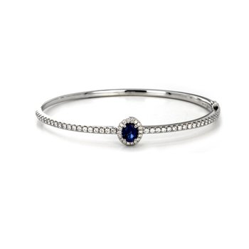 Blue Sapphire Bangle Bracelet