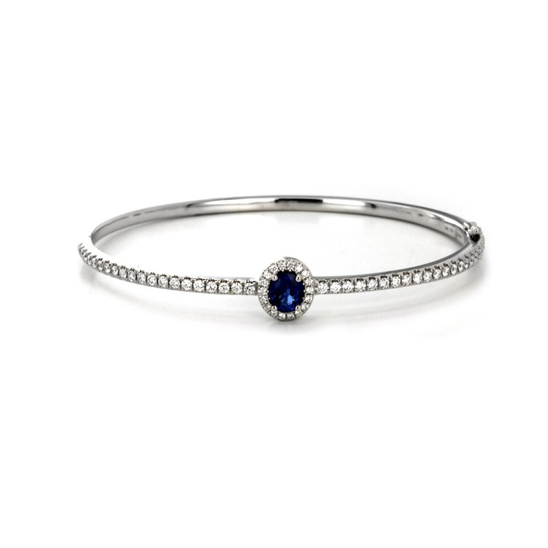Continental Collection Blue Sapphire Bangle Bracelet