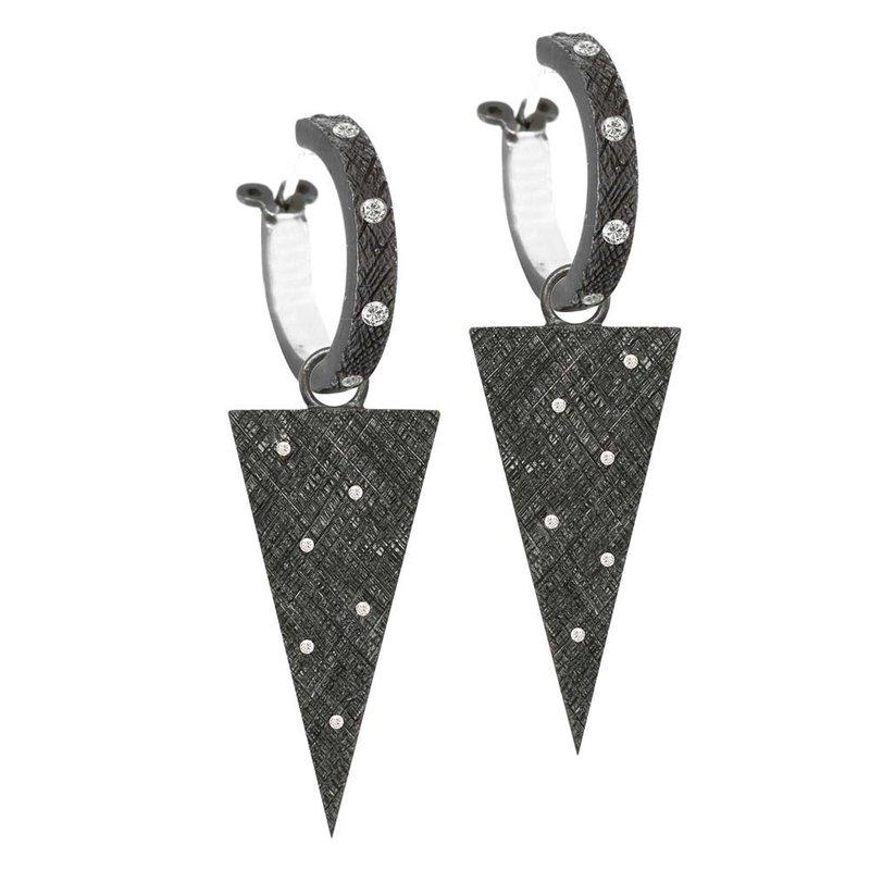 Nina Nguyen Designs Diamond Oxidized Silver Drop Jackets