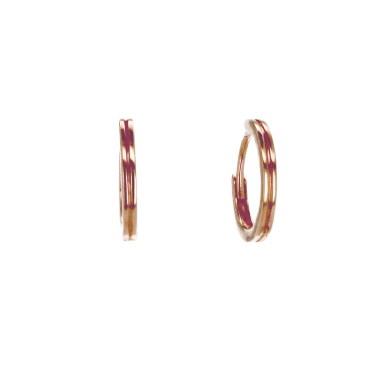 Continental Collection Round Hoop Earrings