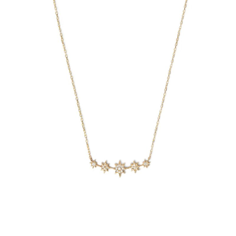 Anzie Aztec North Star Micro Bar Necklace