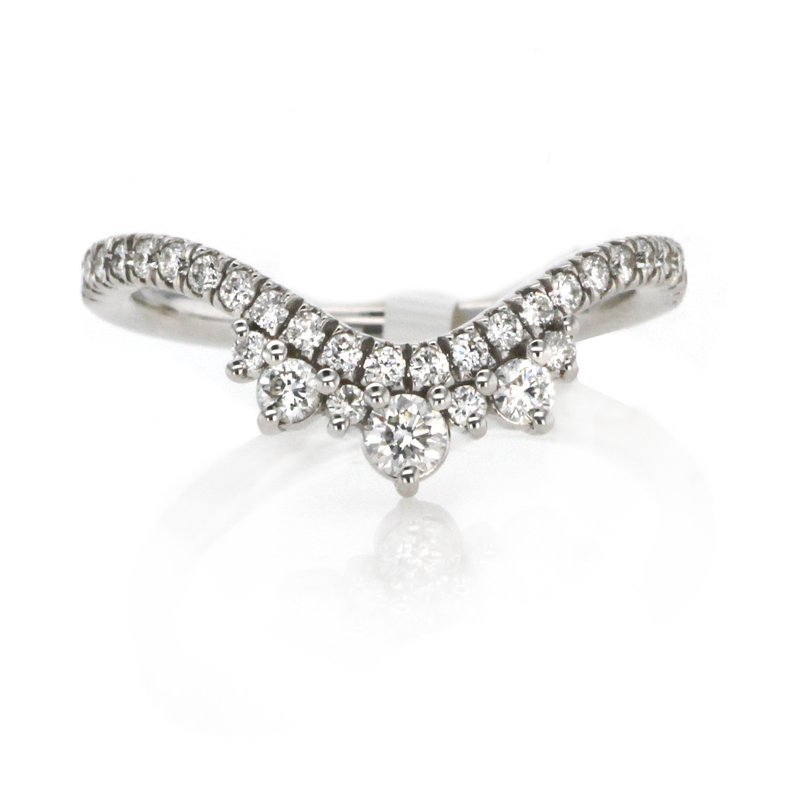 Continental Collection 0.44 ctw Contoured Diamond Band