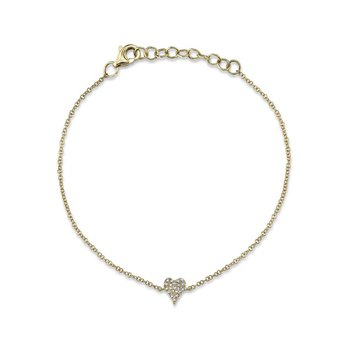 0.05 ctw Diamond Heart Bracelet