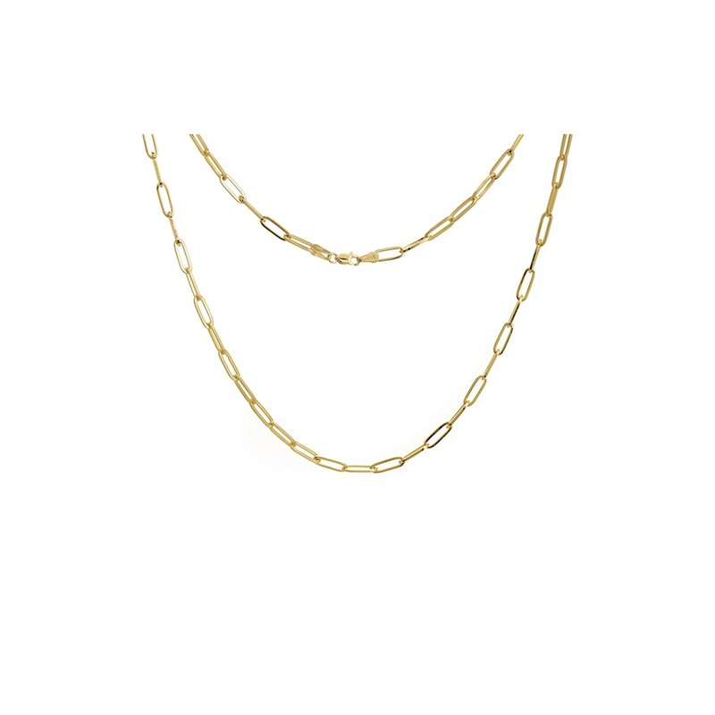 """Continental Collection 24"""" 3.85MM Paper Clip Chain"""
