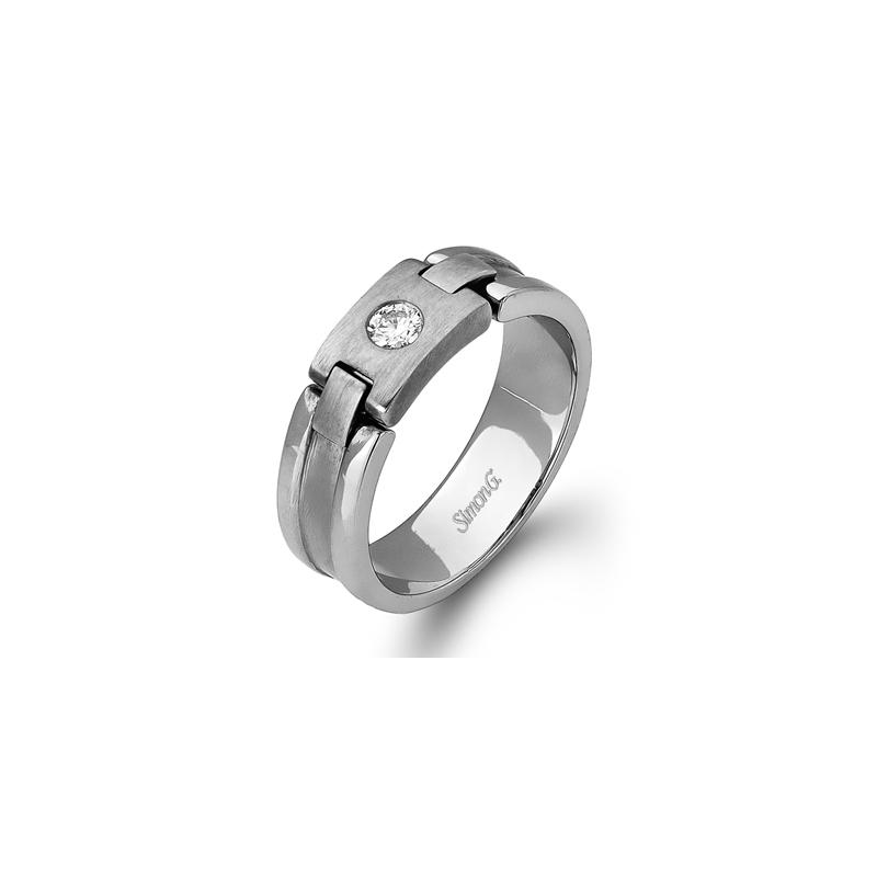 Simon G Jewelry 7MM 0.15 ctw Diamond Band