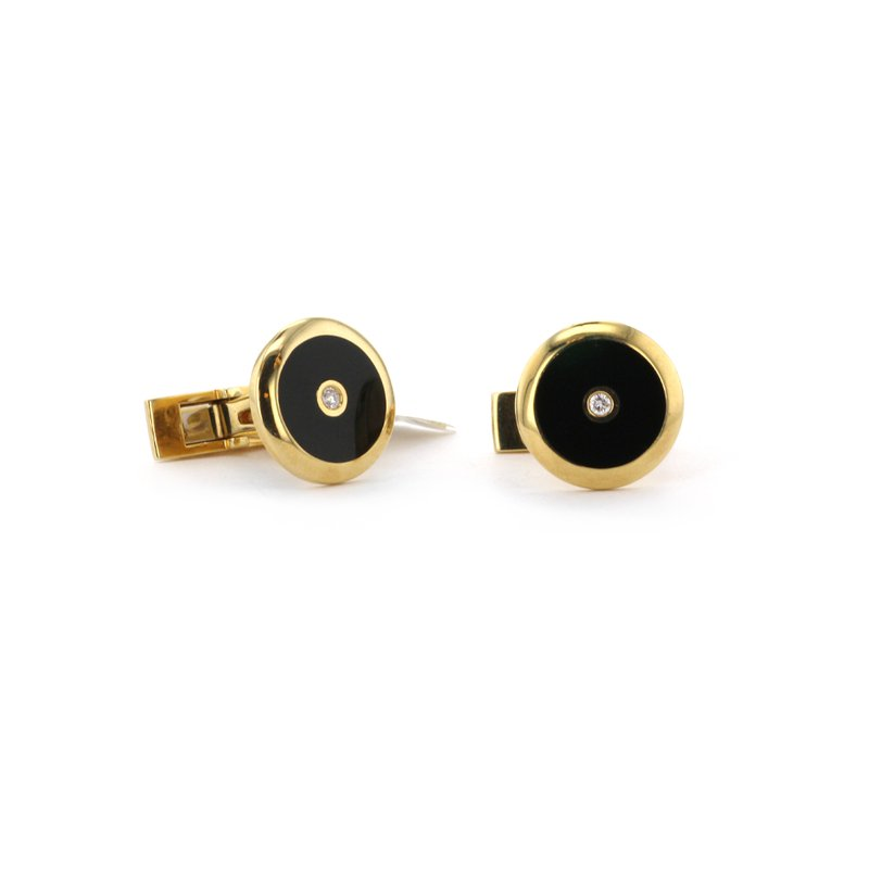 Continental Collection Black Onyx Cuff Links