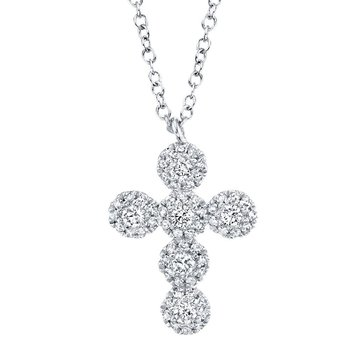 0.25 ctw Diamond Cross Pendant Necklace