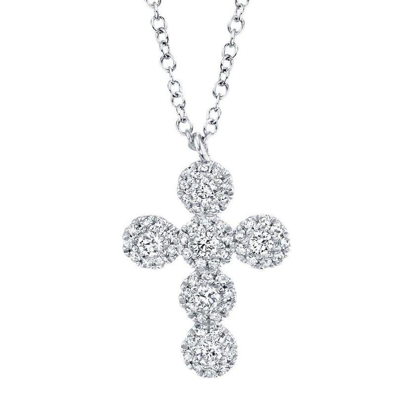 Shy Creation 0.25 ctw Diamond Cross Pendant Necklace