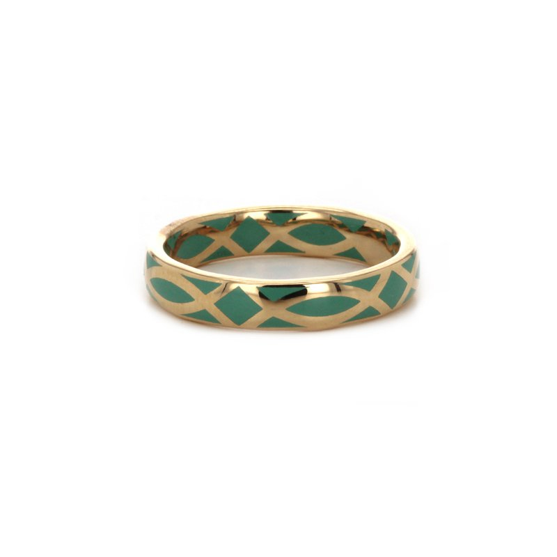 Signature Collection Gold and Enamel Band