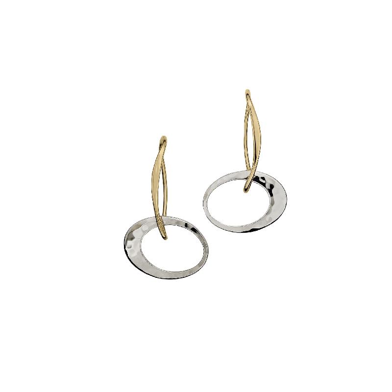 EL Designs Sterling Silver & 14K Gold Dangle Earrings