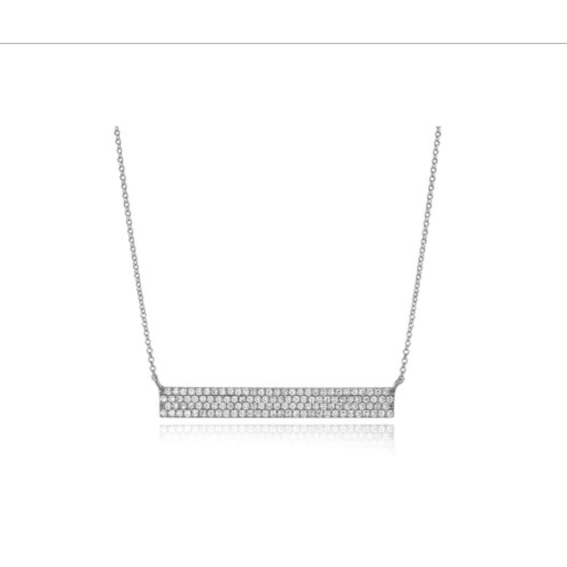 Continental Collection 0.28 ctw Diamond Bar Necklace