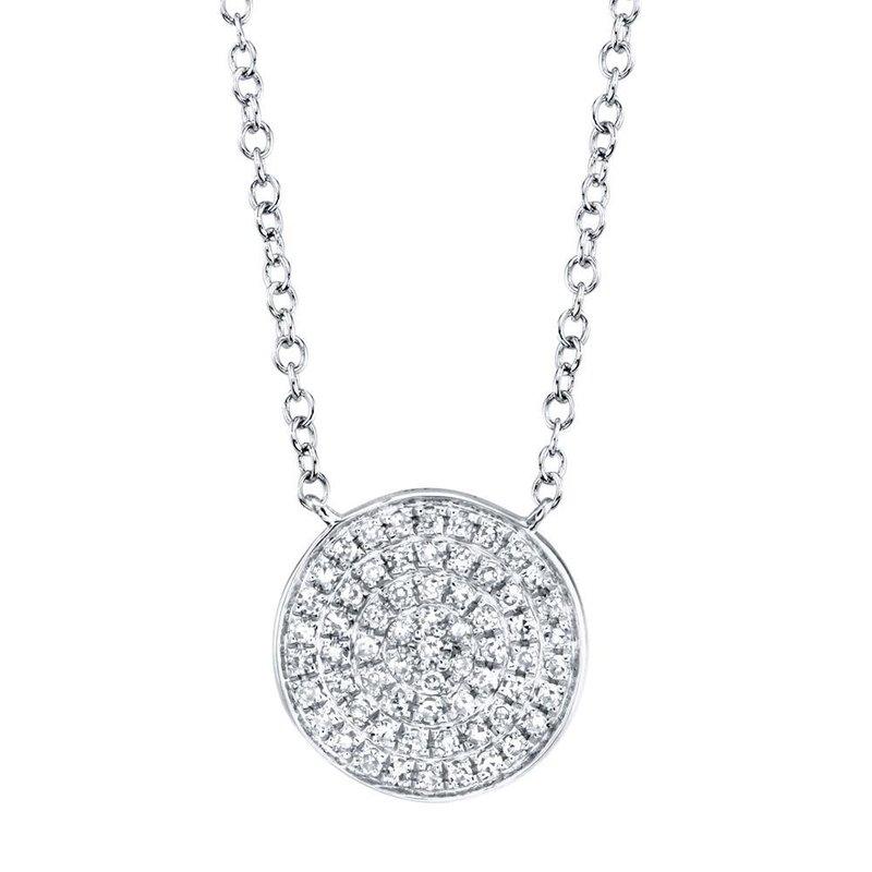 Shy Creation 0.15 ctw Diamond Disc Necklace