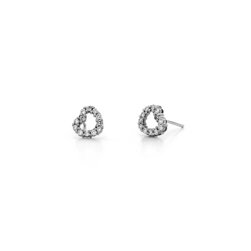 Continental Collection Diamond Heart Earrings
