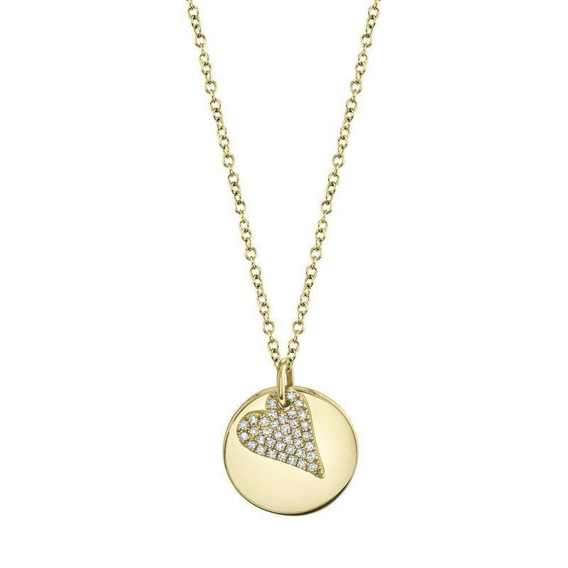 Shy Creation 0.09 ctw Diamond Heart Pendant Necklace