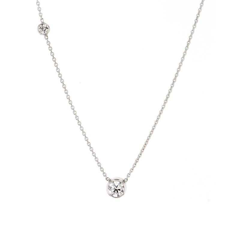 "CD Diamonds 0.26 ct Round Diamond ""Lila"" Bezel Solitaire Necklace"