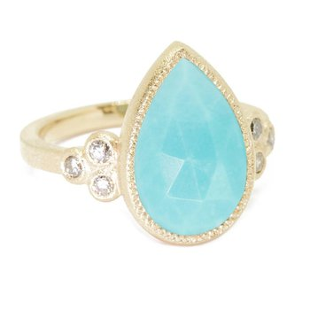 SMALL TURQUOISE 18K RING