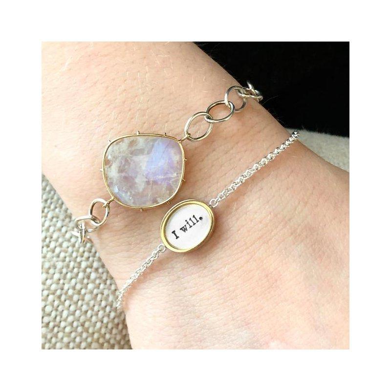 Heather B. Moore Silver Charm Bracelet
