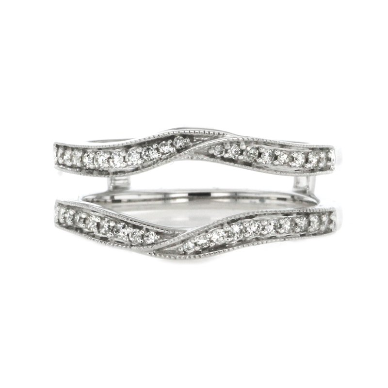 Continental Collection 0.25 ctw Insert/Wrap Diamond Band